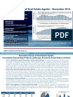 Credit Suisse Monthly Survey of Real Estate Agents November 2013 Results