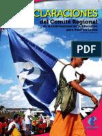 Declaraciones del Comité Regional (hasta 2011)