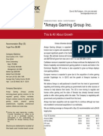 Cormark Securities Amaya Gaming Group Inc