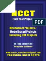 Mechamical & Model Projects List 2009 - 10 NCCT