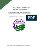 Satellite Internet Connection for Rural Broadband