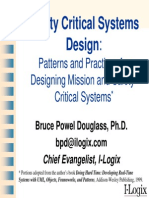 Safety Critical Systems Desing