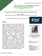 Formulation and Evaluation of Fast Disintegrating Tablet of Diclofenac Sodium