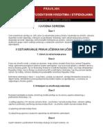 Pravilnik o učeničkim i studentskim kreditima i stipendijama