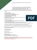 Pharmacology Syllabus Pt 1
