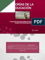 TEORÍAS DE LA EDUCACIÓN