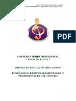 PROYECTO EDUCATIVO       C.P.M  Paco de Lucía