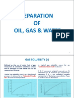 Separation of Oil, Gas
