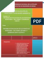 Informe de Evaluacion de Los Puntos de Monitoreo - Rio Cumbil y Quebrada Cirato