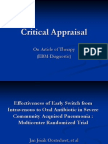 Critical Appraisal of Article of Therapy