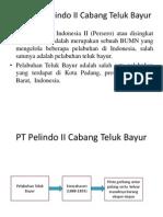 PPT Profil PT Pelindo II Cabang Teluk Bayur