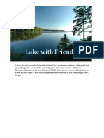 three words lake with friends