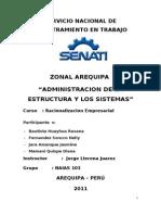 Administracion de La Estructura y Los Sistemas