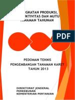 Pedoman Teknis Pengembangan Tanaman Karet.doc