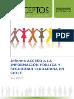 Acceso a lainformación pública y seguridad ciudadana en Chile