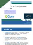 Enterprise RIA – Deployment Examples