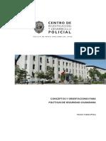 Conceptos y Orientaciones Para Politicas de Seguridad Ciudadana