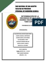 DETERMINACIÓN DE LA VISCOSIDAD DE UN FLUIDO USANDO VISCOSÍMETRO DE TUBO CAPILAR (1)