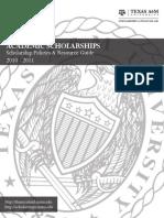 TAMU_Academic Scholarships Student Handbook 2010
