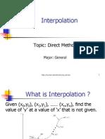 Interpolation direct method