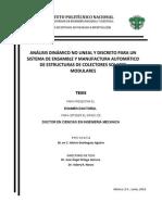 Estudio Analisis Dinamico No Lineal y Discreto y Desarrollo de Un Sistema