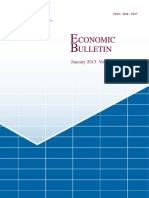Economic Bulletin January 2013
