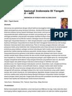 Esaunggul.ac .Id-Krisis Budaya Nasional Indonesia Di Tengah Arus Globalisasi Edit