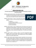 XU-CSG 20th Directorate Resolution 0032-1314
