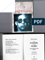Rene Daumal the Powers of the Word