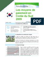 Moyens de paiement en Corée du Sud 2009