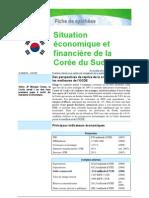 Situation économique et financière Corée du Sud 2009