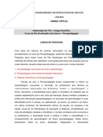 Linha de Pesquisa - Pos Graduacao 2013 - Psicopedagogia