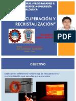 RECUPERACIÓN Y RECRISTALIZACIÓN EXPO