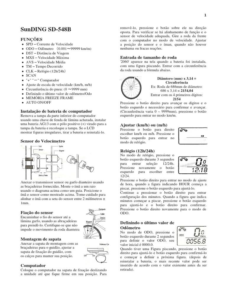 sunding sd 548b instructions