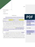 world war z essay feedback