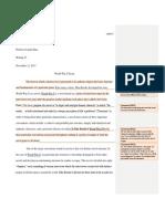world war z essay feedback 2