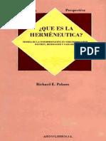 Que Es Hermeneutica Richard Palmer