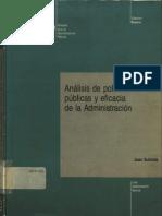 Analisis de Politicas Publicas y Eficacia de La Admin Libro