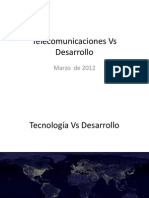 Introduccion Telecomunicaciones vs Desarrollo Mar 2012