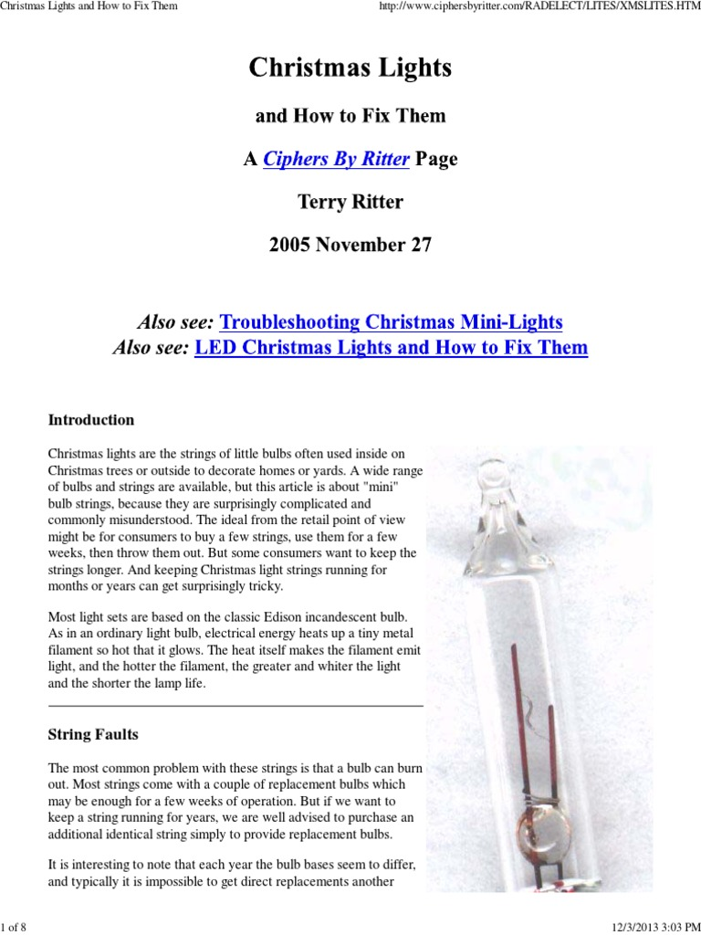 Christmas lights and how to fix them incandescent light bulb ac christmas lights and how to fix them incandescent light bulb ac power plugs and sockets publicscrutiny Image collections