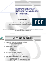 Program Pengembangan Science Techno Park di Indonesia