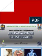 degradación de biomateriales