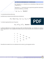 Diferencias Finitas, Ordinarias y Divididas