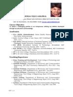 Resume ECE Professor
