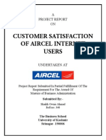 Customer Satisfaction of Internet Services in Aircel - Owais Shaikh