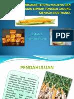Pembuatan Tepung Maizena Dan Pemanfaatan Limbah Tongkol Jagung