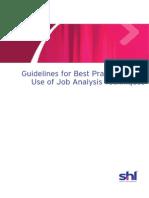 Best Practice Job Analysis