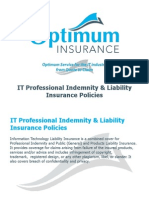 IT Professional Indemnity & Liability Insurance Policies