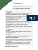 Resumen de Normas Oficiales Mexicanas