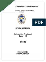 Study Material Class Xii Ip 2012 13 Bhopal Region
